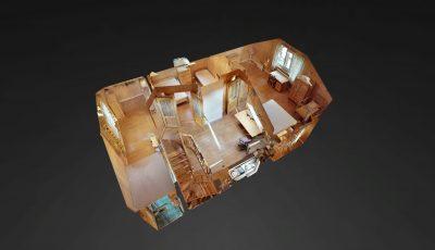 Деревянный дом с 3 спальнями на берегу озера 3D Model